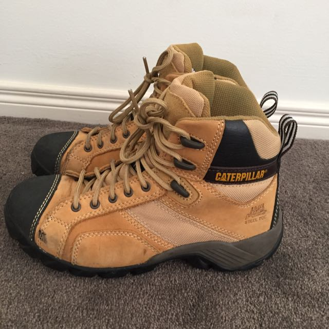 CAT Steel Toe Boots, Size 7