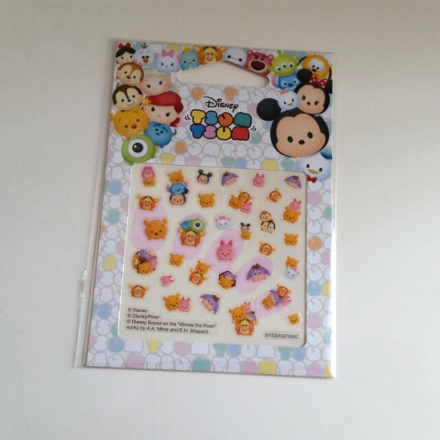 HOLD] Disney Tsum Tsum Nail Stickers, Women\'s Fashion on Carousell