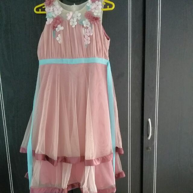 Dress Pesta DONITA ( 10 -12 Thn)