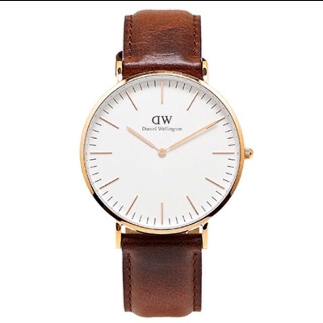 DW 40mm 玫瑰金手錶