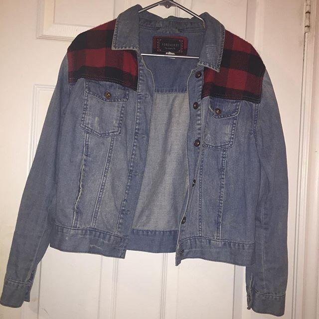 Forever 21 Denim Jacket w/ Plaid