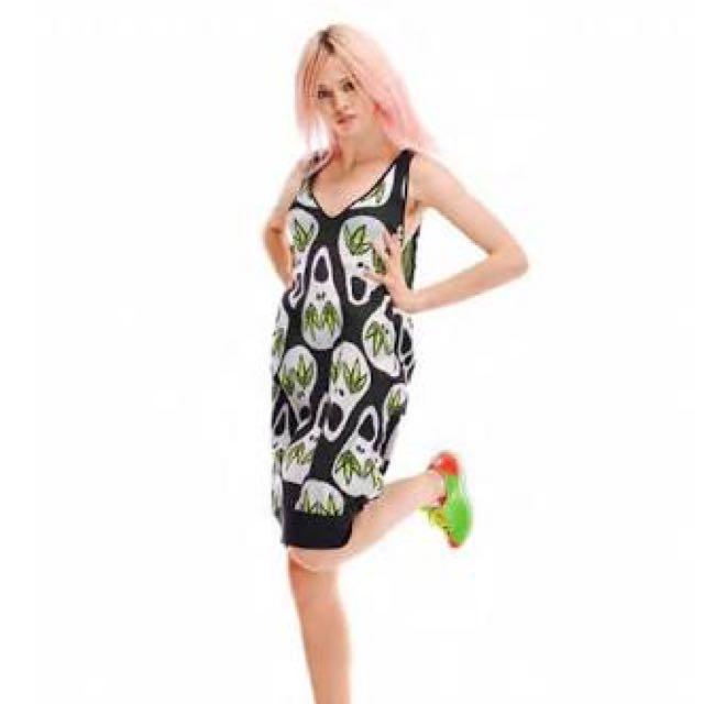 Jeremy Scott X Adidas Skull Print Knit Dress