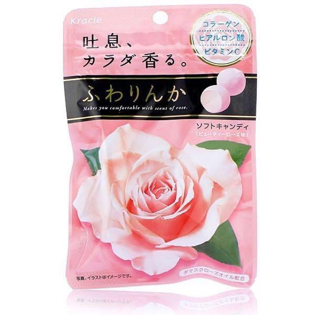 **日本超級熱賣,kracie 玫瑰花香軟糖