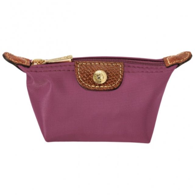 Longchamp 拉鍊式水餃零錢包~ 靄紫色