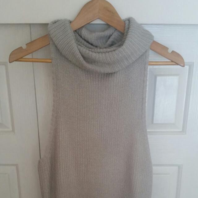 Mika And Gala Rolled Neck Knit Top