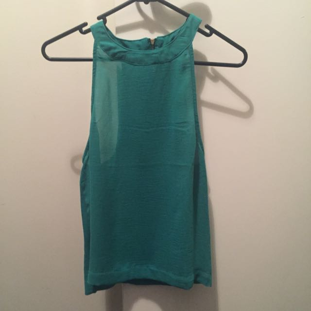 Mink pink Green Racer Back Top
