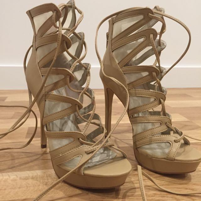 NAPELS CAMEL - Lipstick Heels