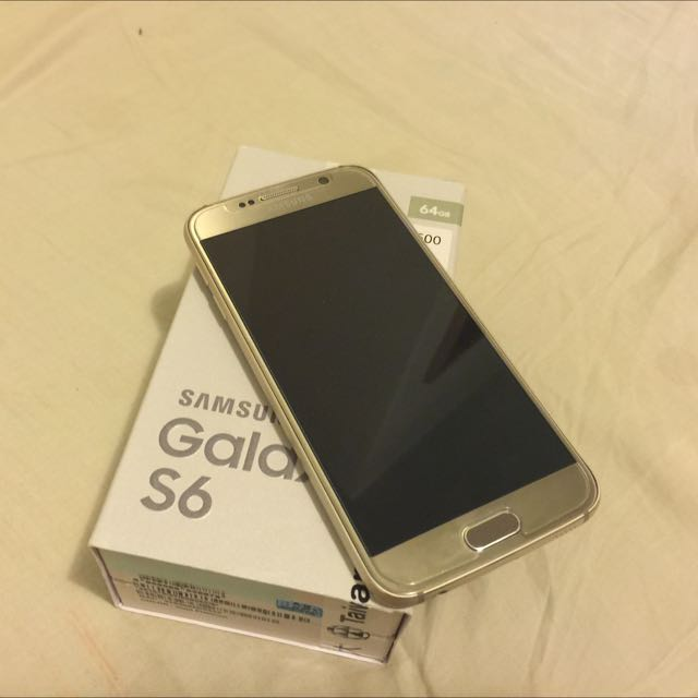 SAMSUNG S6 64GB 金色 最高版本 剛過保固 盒裝完整