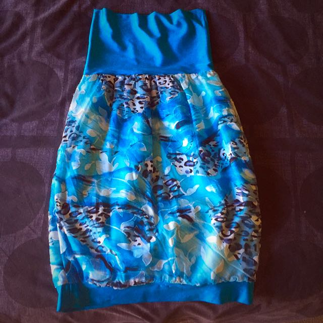 Strapless Peacock Dress