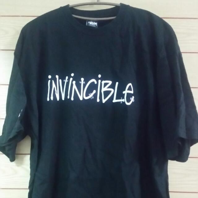 STUSSY聯名INVINCIBLE款 黑色XL號