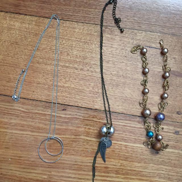 Three Necklaces $5