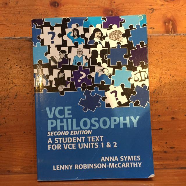 VCE Philosophy Units 1&2