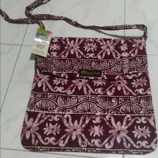 Brand New Natural Batik sling bag