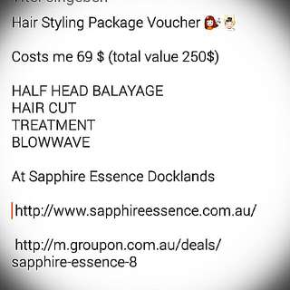 Hair Styling Package Voucher