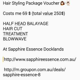 Hair Styling Package Balayage