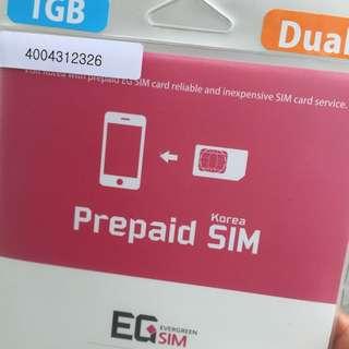 韓國 電話/網路卡 GS sim