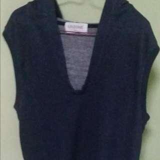I.P Zone sleeveless with hodie jacket/shirt