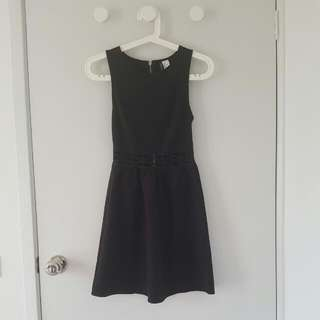 H&M Black Waist Cut-out Dress