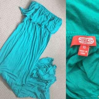 Size 10 - Aqua Floor Length Dress