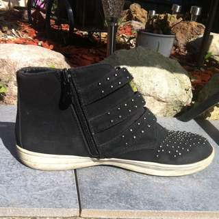 Black Eleana Studded Boots