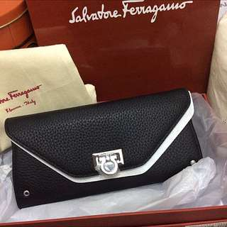 Authentic Salvatore Ferragamo Continental Wallet New In Box prada Wallet 22A444 Chanel Wallet Iphone6 Chanel Mademoiselle Chanel Wallet Chloe Perfume Dress Skirt Shirt