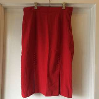 Vintage Style Red Bettie Page Pencil Skirt