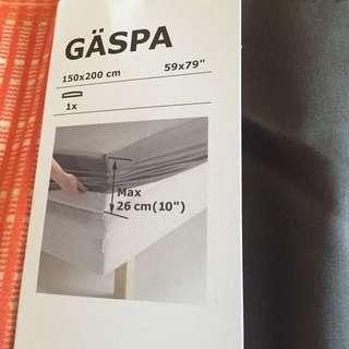 Ikea 雙人床單(深灰色)含運