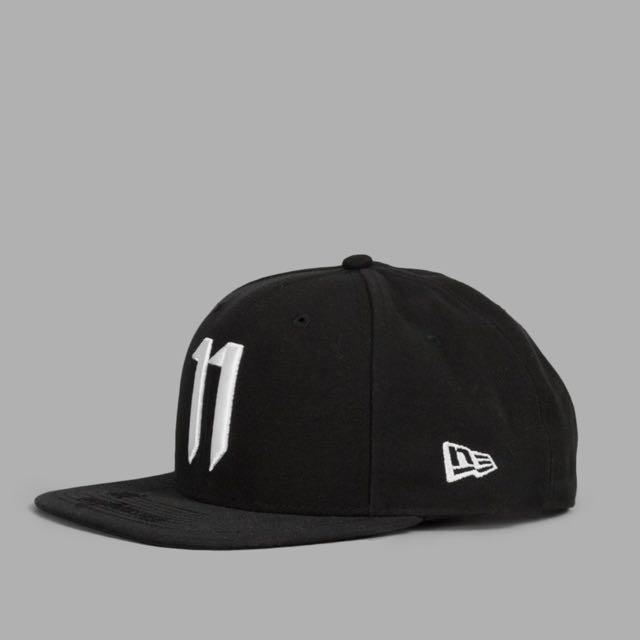 原廠正品義大利進口現貨11 by Boris Bidjan Saberi黑白11 LOGO鑲板棒球帽