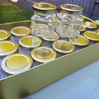 Square Glass Jars 50ml