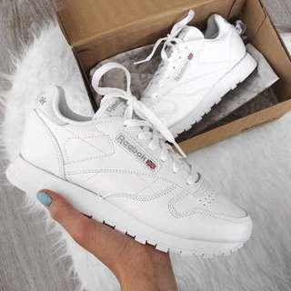 Reebok Classics in White Leather