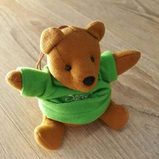 🐻 吊飾 小熊 泰迪 綠