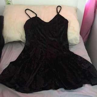 ICE Black Velvet Dress