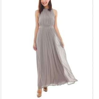 Thebmdshop Maxi Dress In Dusty Grey