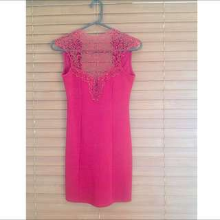 Red Lace Style Dress