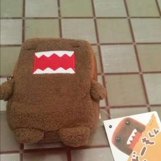 Cute Domo coin/ card pouch with tag