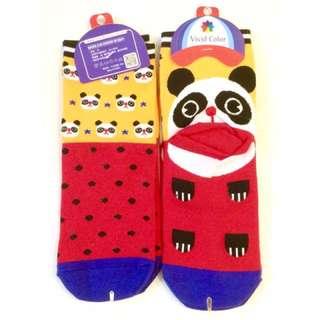 🚚 以樂玩具 熊貓造型襪 造型襪子 襪子 短襪 韓國貨