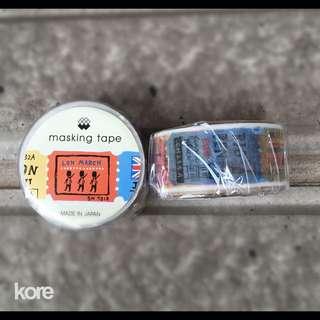 🚚 日本製MIND WAVE 造型紙膠帶 - 〔92748]倫敦票券ㄧ卷120元