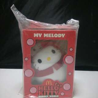 Brand New Mcdonalds Hello Kitty My Melody Bubbly World