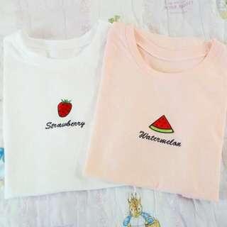 刺繡水果t