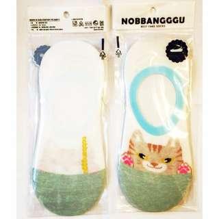 🚚 以樂玩具 隱形襪 隱形襪子 貓咪 貓咪襪子 非短襪 白色