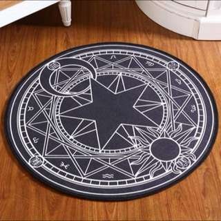 庫洛魔法使 魔法陣地毯 黑色 60cm