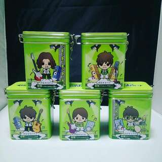 Brand New Collectible Mayday 五月天 Tin Cans (No Content) Set Of 5. Official Merchandise From Double Mint #UOBPayNow