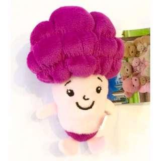 🚚 以樂玩具 花椰菜 紫花椰菜 小花椰菜 吊飾 絨毛娃娃 絨毛吊飾