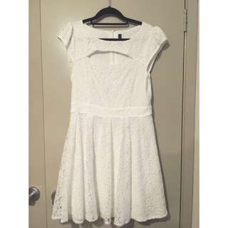 New Without Tags Miss Shop White Lace Dress Sz 12