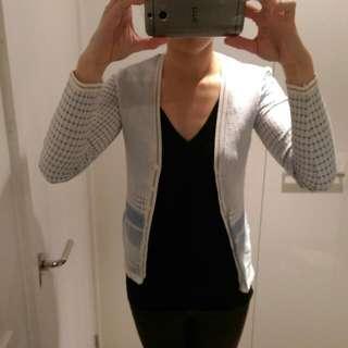 Kookai Blue Cardigan. Size S