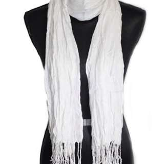 Soft White Scarf