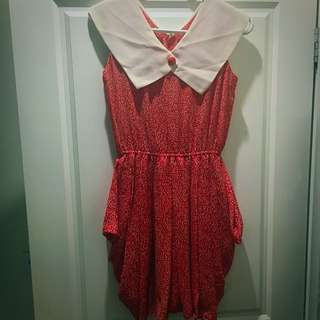 Vintage Red And White Dress