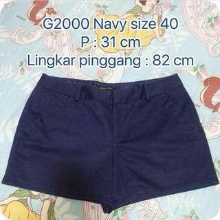 Celana Pendek G2000 Navy