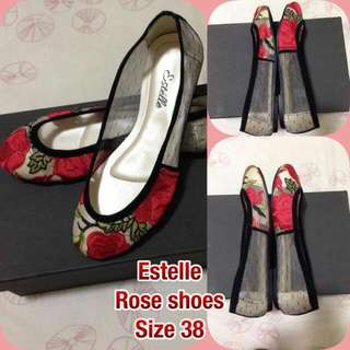 Estelle Shoes Red Roses