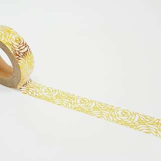 Gold Foil Roses Washi Tape Roll